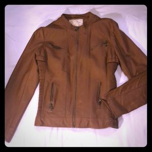 Faux leather brown  jacket